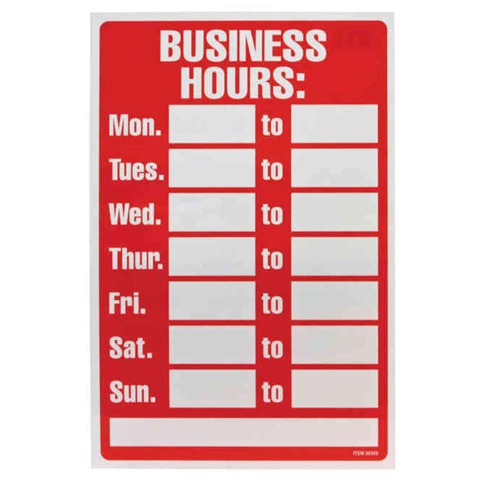 Hours Signs Chula Vista San Diego Bonita San Ysidro